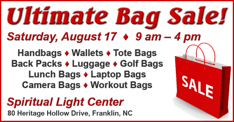 Ultimate Bag Sale, Aug. 17th, 9am-4pm